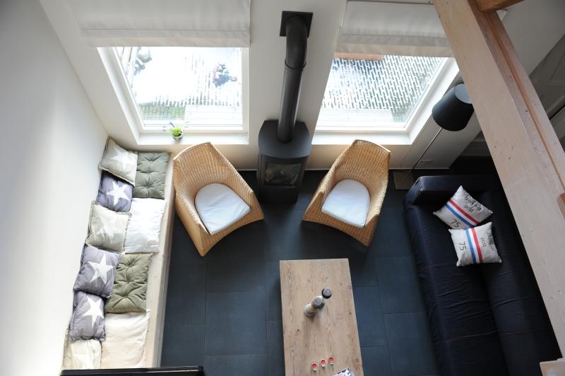 Vakantiehuis Ameland Skip Lodge heeft een gezellige woonkamer